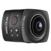 Camera Video de Actiune Andoer D3614B, Full HD, Wi-Fi, panorama 360 de grade (Negru)