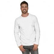 Lemon & Soda Lange mouwen stretch t-shirt wit voor heren