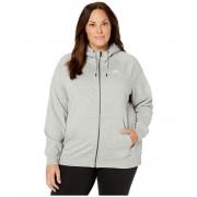 Nike Plus Size NSW Essential Hoodie Full Zip Fleece Dark Grey HeatherWhite