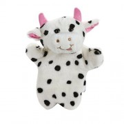 Chinatera Baby Kids Adorable Cow Hand Puppet Farm Animal Story Telling Prop Easily Animate Play Glove Soft Fur Doll Plush Toy