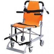 sedia portantina da evacuazione a 4 ruote in alluminio - con pedana e