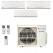 Panasonic Condizionatore Trial Split Gas R-32 Serie Z Etherea Bianco 7000+7000+15000 Btu CU-3Z68TBE WiFi Opzionale A++/A+