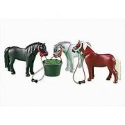 Playmobil 3 Ponies with Feeding Bucket