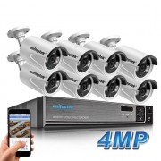 Sistem supraveghere 8 camere ip 4MP 2592*1520+ NVR PoE , iOS/ Android, Night Vision 20m, compresie Ultra H265, IP66