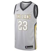 Maillot Nike NBA LeBron James City Edition Swingman (Cleveland Cavaliers) pour Enfant plusâgé - Argent