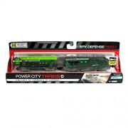 Jakks Pacific Year 2014 Power City Trains Series 6 Battery Powered Motorized Train Engine Set - SPY