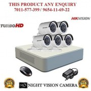 HIKVISION 2 MP 8CH DS-7108HQHI-F1 MINI Turbo HD 720P DVR + HIKVISION DS-2CE16DOT-IR TURBO BULLET CAMERA 5pcs