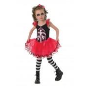 Costum de carnaval pentru copii Schelet Balerina, 3 ani+