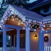Karácsonyi kültéri fényjégcsap fehér vezetékes 10 m hideg fehér