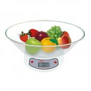 Кухненска везна с купа SAPIR SP 1651 C1, До 5 кг, LCD екран, Бял