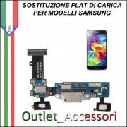 Cambio Sostituzione Connettore Flat Ricarica Carica Samsung Galaxy S5 MINI G800F