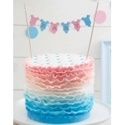 BABY Tårtbanner - Baby Girl or Baby Boy