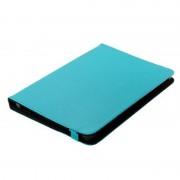 Bolsa em Pele Estilo Livro Universal para Tablet - 10.1 - Azul Claro