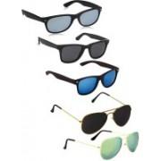 David Martin Wayfarer, Aviator Sunglasses(Black, Blue, Green, Silver)