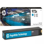Тонер касета HP 973X High Yield Cyan Original PageWide Cartridge, F6T81AE