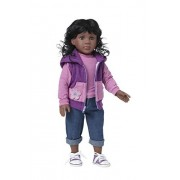 Starpath African American Girl Doll 18' Vinyl, Included Custom Fairy Tail e-Book Starring You and Your Star Path Doll, Fits American Girl