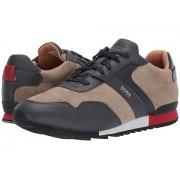 BOSS Hugo Boss Parkour Run Suede Sneakers by BOSS Open Beige