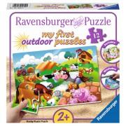 PUZZLE ANIMALE LA FERMA, 12 PIESE - RAVENSBURGER (RVSPC05609)