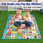 Sonani Playmat Waterproof, Anti Skid, Double Sided Baby Crawling Mat Waterproof Double Side Baby Play Crawl Floor Mat for Kids Picnic Play School Home (Large Size - 120 * 180cm) with Zip Bag to Carry