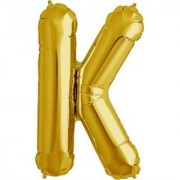 Stylewell 16 Inch Alphabet (K) Soild (Golden) Color 3D Foil Balloons For Birthday And Anniversary Parties Decoration