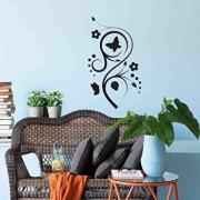 Sticker decorativ de perete Sticky, 260CKY1023, Negru