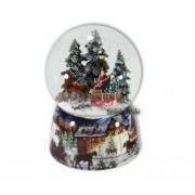 Spieluhrenwelt Schneekugel Kuschfahrt mit Spieluhr