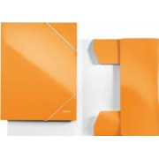 Mapa LEITZ Wow carton cu elastic - portocaliu metalizat