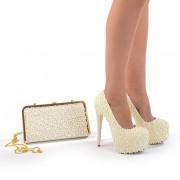 Pantofi de mireasa cu poseta inclusa Amalia (Marime: 38 EU)