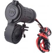 """MMOBIEL Universele Waterdichte Motor Aansteker 12V-24V 240W Power Plug met Stuur Aansluiting voor Motoren 22-30MM (0.87""""-1.18"""") en Montage Steun incl. 60 cm Draad en Aansluiting."""