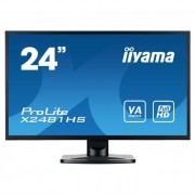 iiyama Prolite monitor LCD LED 23.6\ X2481HS-B1 Full HD, 6ms, DVI-D, HDMI, speakers, fekete