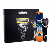 Gillette Fusion Proshield 1Pc Shaver With One Head 1 Pc + Shaving Gel Fusion Proglide Sensitive Active Sport 170 Ml + Shaver Case 1 Pc Per Uomo(Razor)