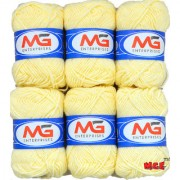 M.G Cream Pack of 16 Balls hand knitting Acrylic yarn wool balls thread for Art & craft Crochet and needle