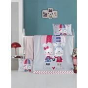 Set lenjerie de pat Victoria, pentru copii, 121VCT2019, Albastru
