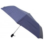 Umbrela Pliabila ICONIC Automata, Bleumarin cu buline, Ø110cm, articulatii anti-vant