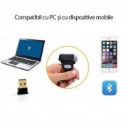 Mini cititor cod bare Bluetooth fixare deget 1D Android iOS PC 2000 coduri
