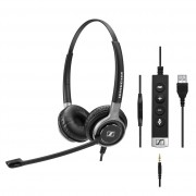 SENNHEISER SC 665 USB Wired Binaural UC headset with 3.5 mm jack and USB connectivity. In-line call control on USB cable and in-line mini call control for use with 3.5 mm jack. UC Ready: Skype for Bus