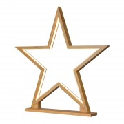 Star decorative light Lucywood bamboo height 51 cm