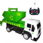 HALO NATION® R/C Garbage Sanitation Recycling Truck with Tipping Bucket - 1:16 Scale Remote Control Garbage Truck