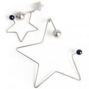 Cercei handmade argint 925 Stars si perle Swarovski lungime 8cm si 5cm