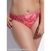 Bred bikinitrosa med exotiskt bladmönster