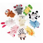 10PCS A SET Finger Puppet/Dolls/Toys Story-telling Props/Tools Toy Model Babies/Kids/Children Toys,Land animals