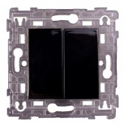 SOPIA Doppel Lichtschalter schwarz-glänzend 231058
