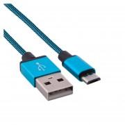 1m Woven Estilo Micro USB A USB 2.0 Cable Datos / Cargador Para Samsung, HTC, Sony, Lenovo, Huawei Y Otros Smartphones (azul)
