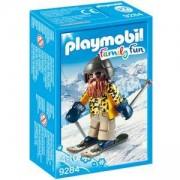Комплект Плеймобил 9284 - Скиор със ски, Playmobil, 2900330
