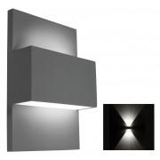 Vista wandlamp up/down e27 - grijs
