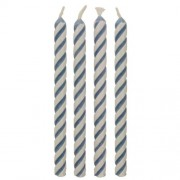 PME Candles Striped Blue Pk/24