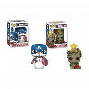 Groot Holiday y Cap snowman Funko pop Navidad