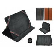 Luxe Hoes voor Ematic Eb106 , Echt lederen stijlvolle Cover , Kleur Zwart
