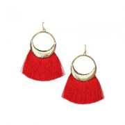 Tassel Earrings Jewelry - Red