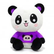 Cute Happy Panda wearing beautiful Purple Baby Panda T-shirt